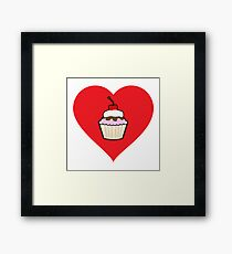Love Baking Framed Print