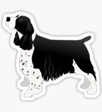 English Springer Spaniel Basic Breed Silhouette Sticker