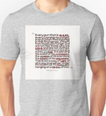 Eisenhower's speach - vers.2 T-Shirt