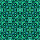 Blue and Green Cross Tile by Marie Sharp