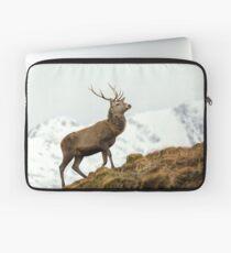 Red Deer Stag in Winter Laptop Sleeve