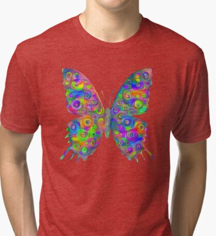 #DeepDream Motley Butterfly Tri-blend T-Shirt