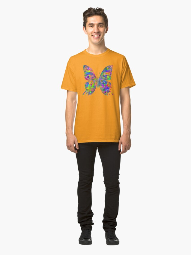 Alternate view of #DeepDream Motley Butterfly Classic T-Shirt