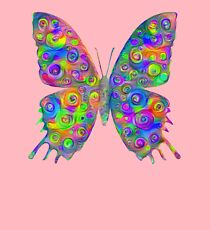 #DeepDream Motley Butterfly Kids Pullover Hoodie
