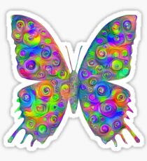 #DeepDream Motley Butterfly Sticker