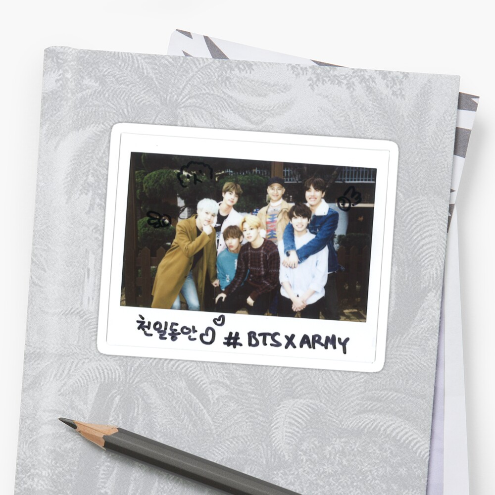 Quot Bts X Army Quot Sticker By Frappuczino Redbubble