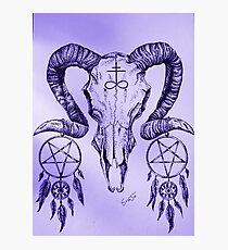 Purple Goat of Satan Photographic Print