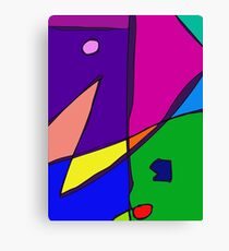 Stained Glass Simulation Canvas Print