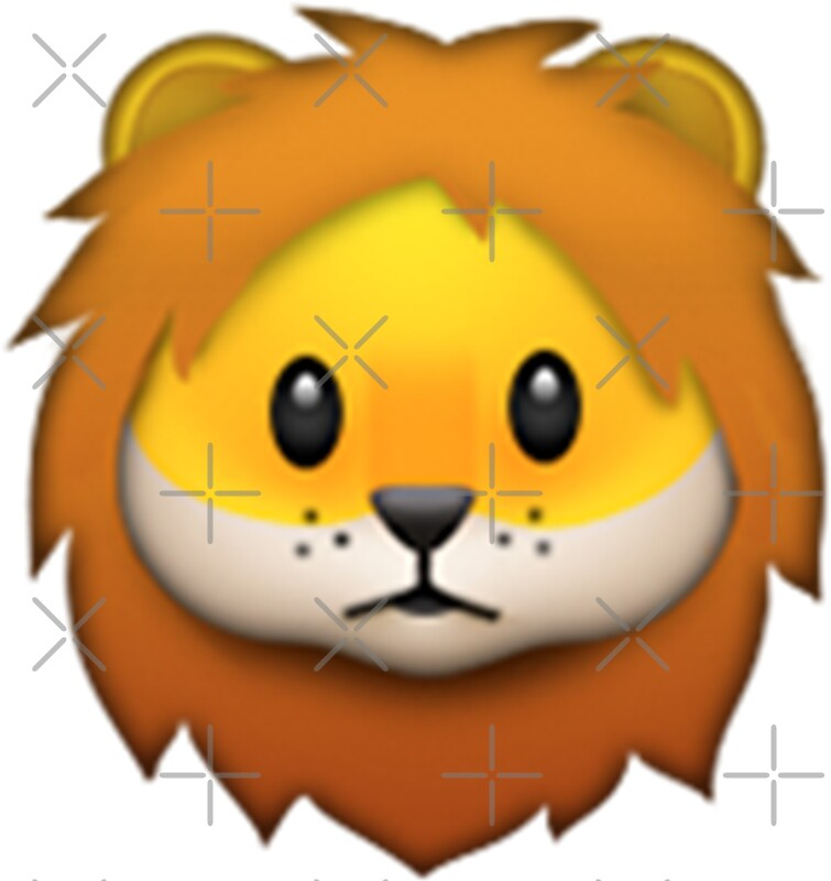 Quot Emoji Lion Quot Stickers By Animalz Redbubble