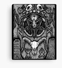 An Altar for Hugin & Munin Canvas Print