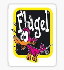 Flügel Getränk Logo Sticker
