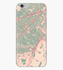 Barcelona Map (Springtime) iPhone Case