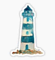 Watercolor Lighthouse Sticker