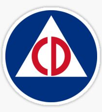 Civil Defense Sticker