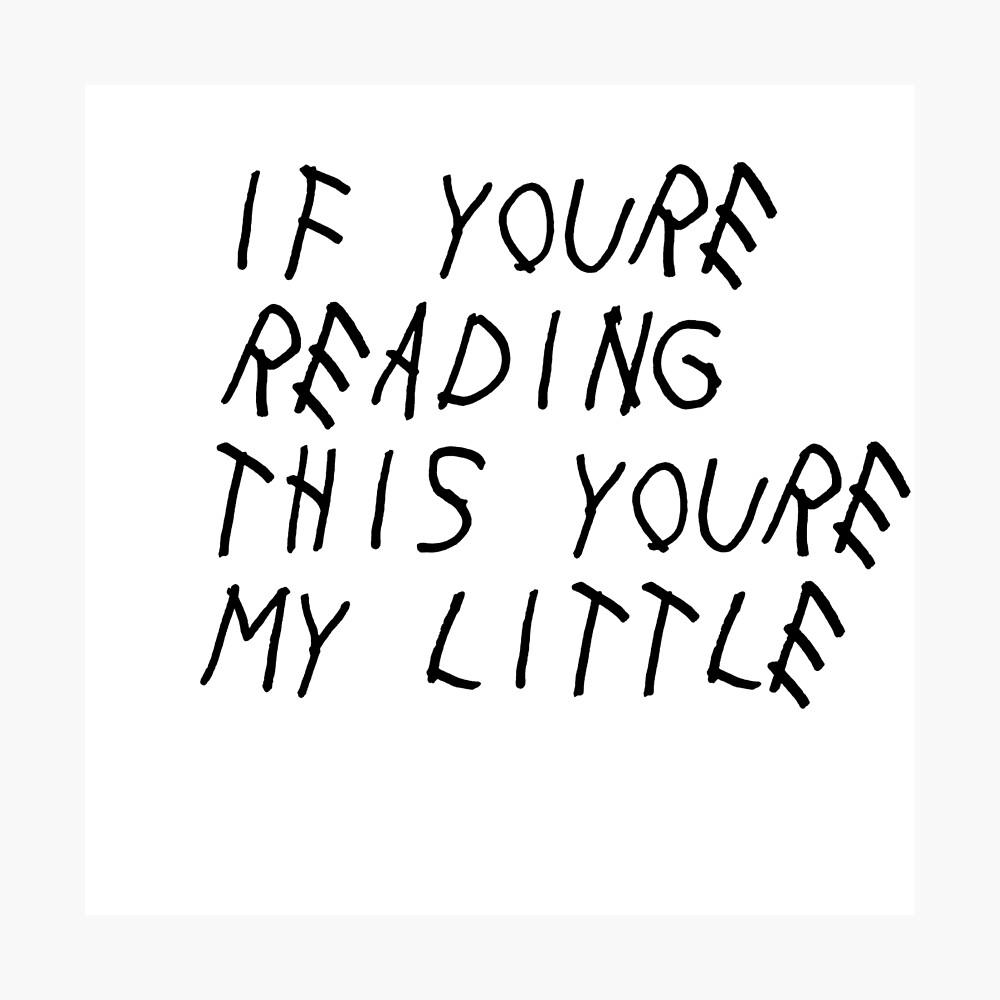Wenn du das liest (wenig) Fotodruck