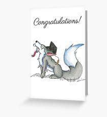 Wolf Grad Greeting Card