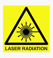 Laser Radiation Symbol  Photographic Print