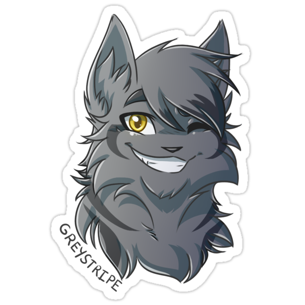 Quot Warriors Stickers Greystripe Quot Stickers By Riverspirit