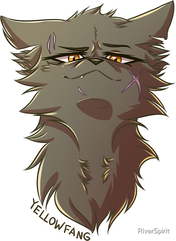 Quot Warriors Stickers Yellowfang Quot Stickers By Riverspirit