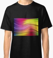 Abstract modern wavy flowing silk Classic T-Shirt