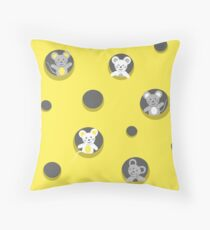 Cheese and mice Throw Pillow