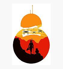 Star Wars VII - BB8 & Rey 2 Photographic Print
