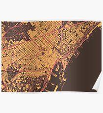 Barcelona Map (Summer) Poster