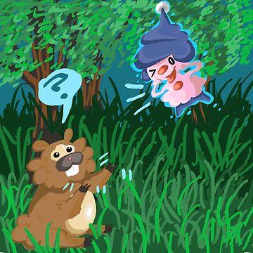 Bidoof & Mime Jr. by Octopustempura