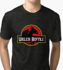 "Jurasic Park Funny ''Useless Reptile"" Tri-blend T-Shirt"