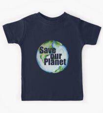 Save Our Planet Earth Day Kids Tee
