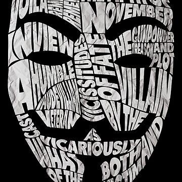 V For Vendetta - Guy Fawkes Masks - Typography by RellikJoin