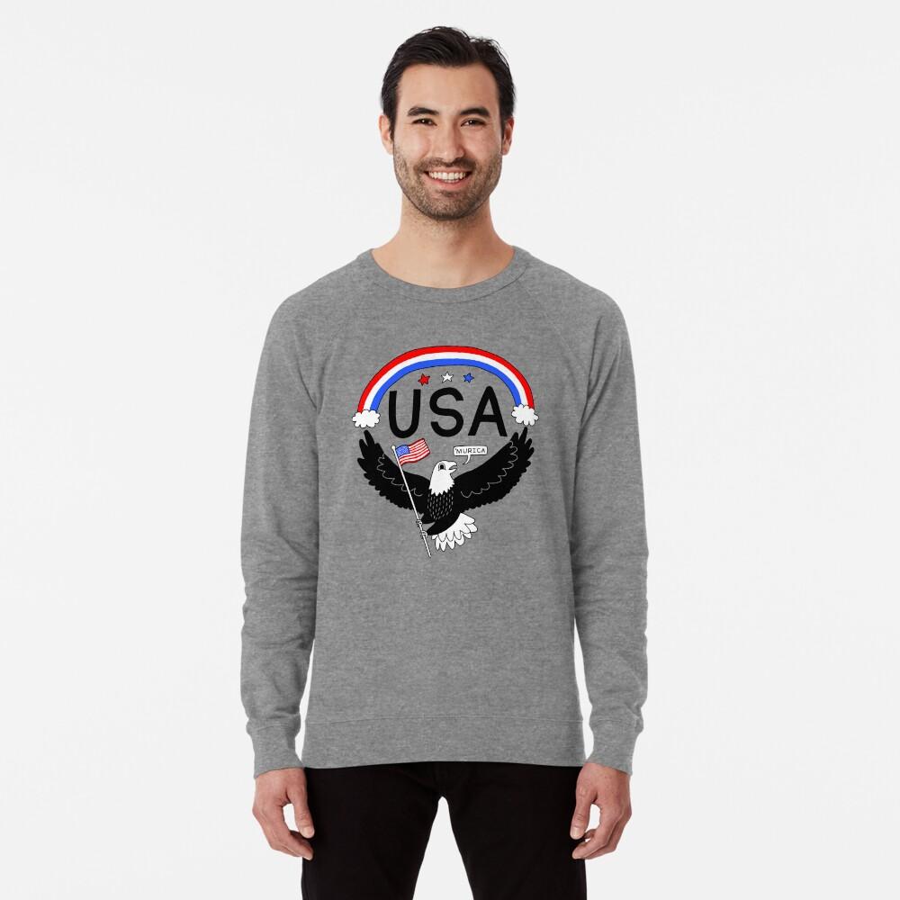 FOURTH OF JULY EAGLE Lightweight Sweatshirt