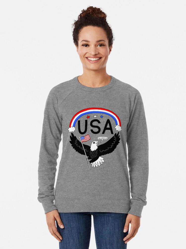 Alternate view of FOURTH OF JULY EAGLE Lightweight Sweatshirt