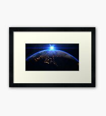 Planet Earth with a spectacular sunrise Framed Print