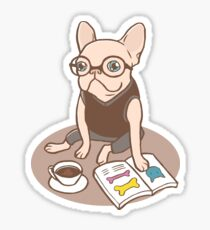 The Hipster Reader Sticker