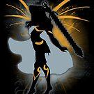 Super Smash Bros. Black Female Corrin Silhouette by jewlecho