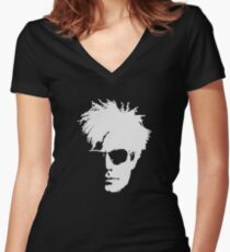 Andy Warhol Women's Fitted V-Neck T-Shirt