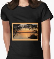 Super Sunset at Magical Myall Womens Fitted T-Shirt
