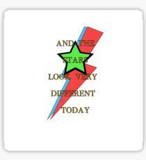 David Bowie Stars Major Tom Memorial Sticker