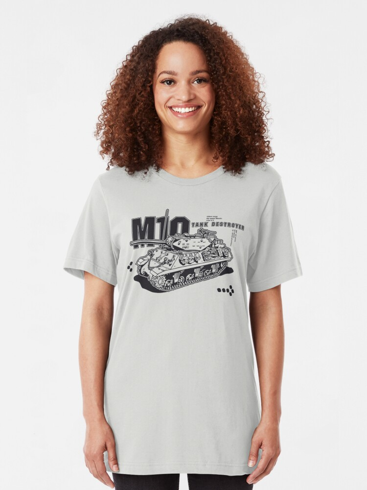 Alternate view of M10 Tank Destroyer Slim Fit T-Shirt