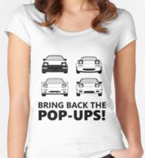 Bring back the pop-ups! Fitted Scoop T-Shirt