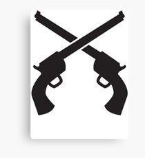 Gunslinger Guns crossed Canvas Print