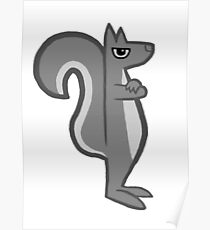Irate Squirrel - Irate series Poster