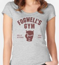 Fogwell's Gym Women's Fitted Scoop T-Shirt