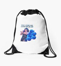 Bendelacreme Blue  Drawstring Bag
