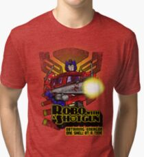 Robo With A Shotgun Tri-blend T-Shirt