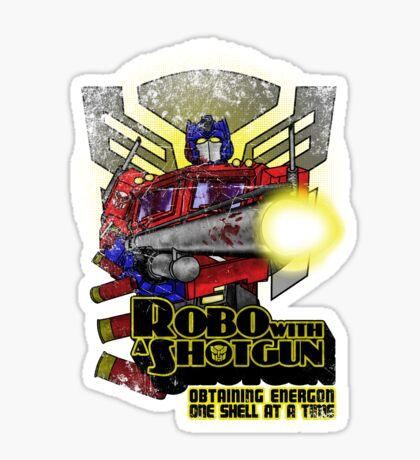 Robo With A Shotgun Sticker