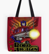 Robo With A Shotgun Tote Bag