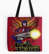 Robo With A Shotgun Tote Bag