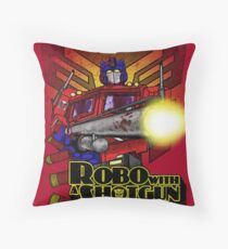 Robo With A Shotgun Throw Pillow